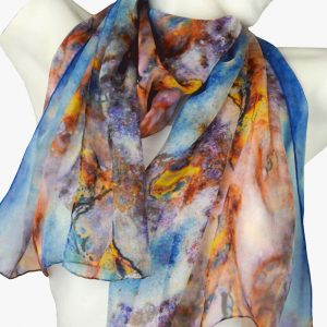 Blue Rust Scarf